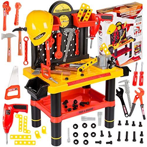 Werkbank Kinder Kinderwerkbank & Zubehör Werkstatt KP2646 Kleinkindspielzeug Kinderbank Werkzeug...