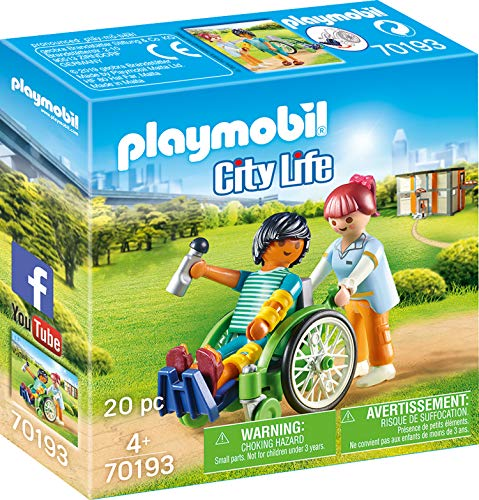 Playmobil 70193 City Life Patient im Rollstuhl, ab 4 Jahren, bunt, one Size