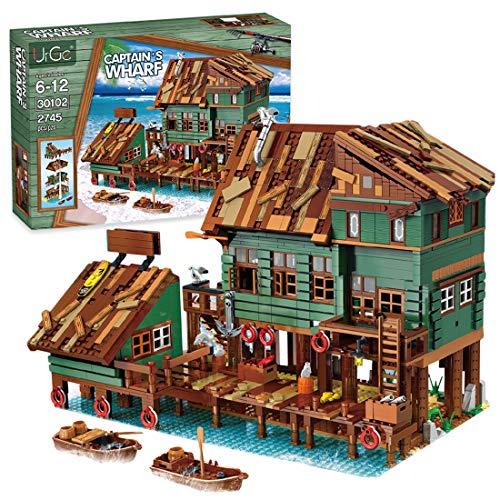 OATop Modular Haus Bausteine Modell - 2745 Teilen Alter Angelladen Klemmbausteine Architektur Custom...