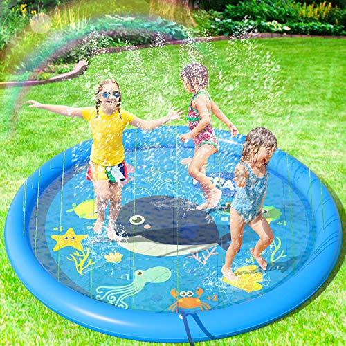 Peradix Splash Pad,Sprinkler Play Matte,170cm Sommer Garten Wasserspielzeug Kinder Baby Pool Pad Spritzen...