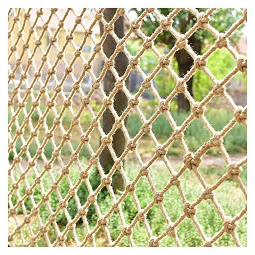 ZGQSW Kinder Sicherheitsnetz, Hanfseilnetz, Kletternetz, Balkontreppennetz, Fotowanddekoration Trennwand...