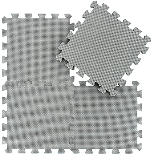 qqpp 18 Puzzle Bodenschutzmatte - Schutzmatte Set Puzzlematte Bodenschutz rutschfest Matte   Fitnessmatte...