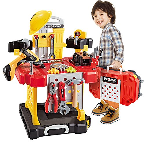 Toy Choi's 83 Stück Werkzeug Kinder, Kinderwerkzeugsätze Werkbank für Jungen Spielzeugsets, Kinder DIY...