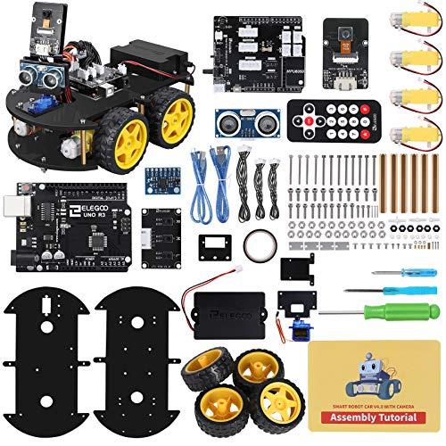 ELEGOO Smart Robot Car Kit V4.0 Kompatibel mit Arduino IDE Elektronik Baukasten mit Kamera, UNO R3 , Line...