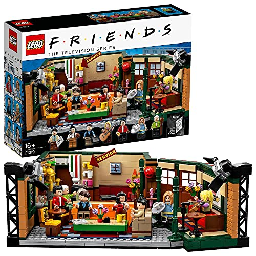LEGO 21319 Ideas FRIENDS Central Perk Café Konstruktionsspielzeug mit 7 Minifiguren, Sammlermodell zum...