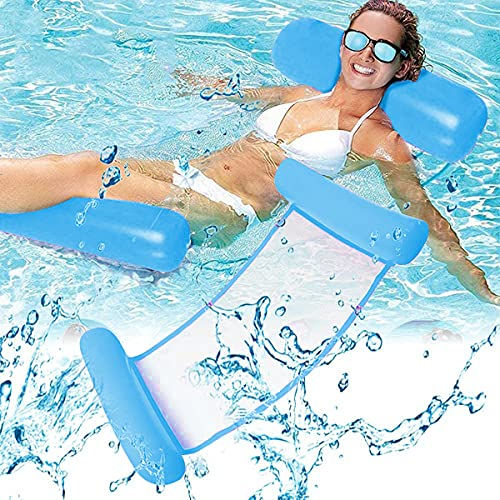 Esteopt Aufblasbares Schwimmbett, Aufblasbare Wasserhängematte, Wasser Hängematte 4-in-1 Ultrabequeme...