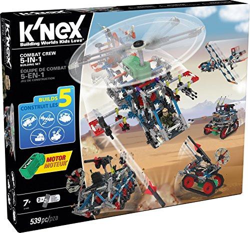 K'NEX 33472 - Building Set - Combat Crew 5-In-1 - 539 Pieces - 7+ - Bau- und Konstruktionsspielzeug
