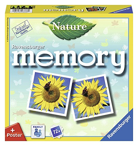 Ravensburger 26633 - Nature Memory, der Spieleklassiker für alle Natur-Fans, Merkspiel für 2-8 Spieler...