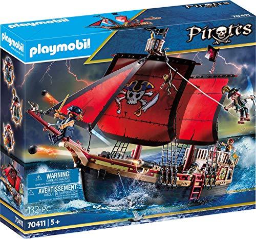 Playmobil Pirates 70411 Totenkopf-Kampfschiff, Ab 5 Jahren