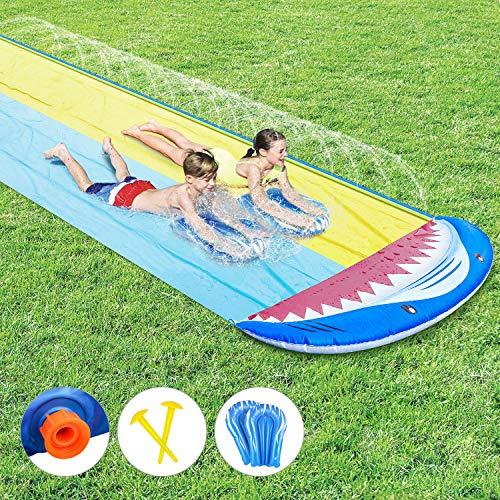 joylink Rasen Wasserrutschen, Wasserrutschbahn mit Surfboard Wasserrutsche Rutschmatte Wasserrutschbahn...