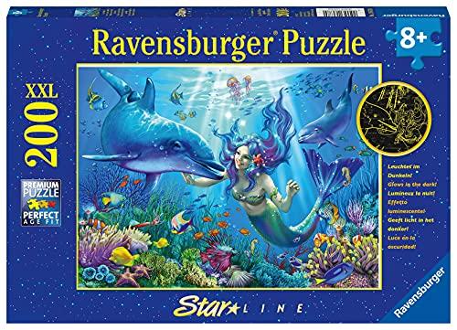 Ravensburger Kinderpuzzle - 13678 Leuchtendes Unterwasserparadies - Unterwasserwelt-Leuchtpuzzle für...