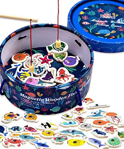 Jaques of London Magnetisches Angelspiel Holzspielzeug Angelspiel - Perfektes Kleinkindspielzeug...
