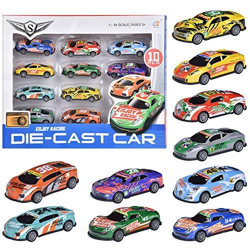 FORMIZON 10 Stück Mini Auto Spielzeug, Spielzeugautos, Mini Auto Set Rennauto, Pull Back Autos Spielzeug...