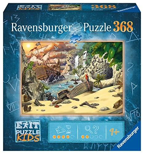 Ravensburger EXIT Puzzle Kids - 12954 Das Piratenabenteuer - 368 Teile Puzzle für Kinder ab 9 Jahren,...