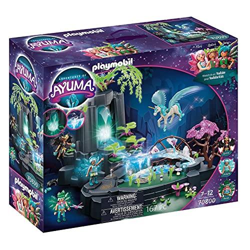 PLAYMOBIL Adventures of Ayuma 70800 Magische Energiequelle, Zum Bespielen mit Wasser, Mit Licht- und...