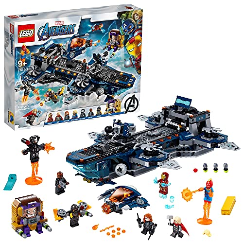 LEGO 76153 Super Heroes Marvel Avengers - Helicarrier Spielzeug mit Iron Man, Thor & Captain Marvel,...