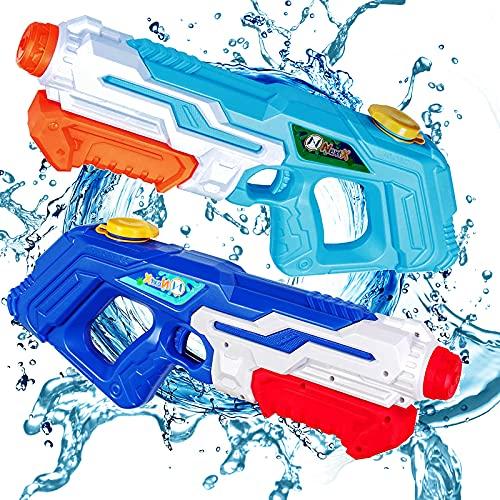 NextX Wasserpistole 2er-Set, 1.2L Super Squirt Spritzpistolen mit 10m Großer Reichweite, Wasser Blaster...