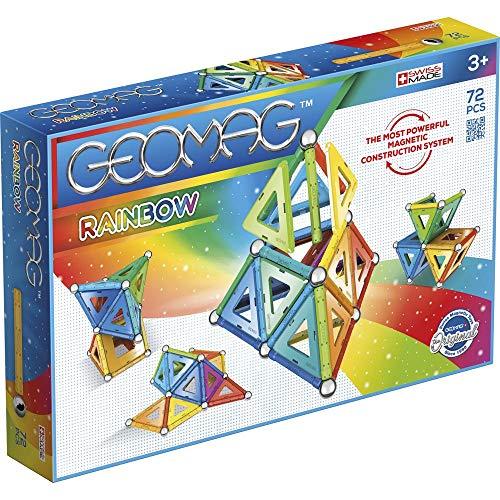 Geomag, Classic Rainbow, 371, Magnetkonstruktionen und Lernspiele, Konstruktionsspielzeug, 72-teilig