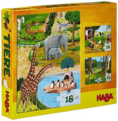Haba Kinderpuzzle: Puzzle ab 3 Jahren mit Tiermotiven