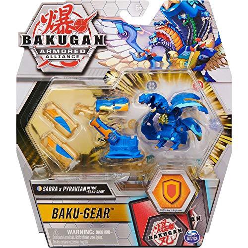 Bakugan Armored Alliance Ultra Sabra x Pyravian (Fusions-Bakugan) mit Baku-Gear 1er Pack