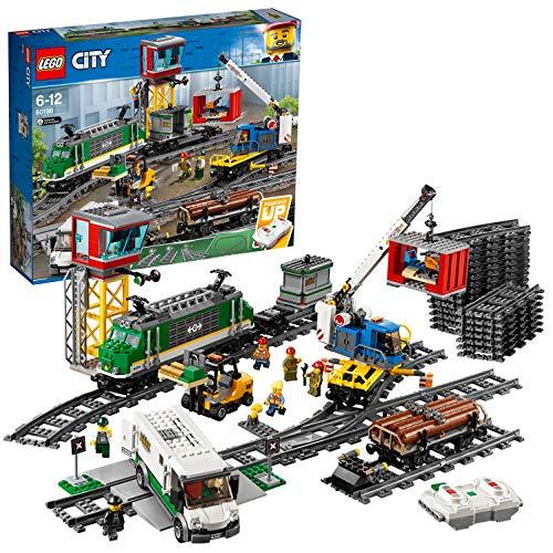 LEGO 60198 City Güterzug, Set mit batteriebetriebenem Motor für Kinder ab 6 Jahren,...
