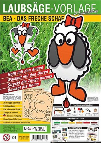 Laubsägevorlage Bea - das freche Schaf: Laubsägevorlage für Bea, das freche Schaf im Hampelmann-Stil.