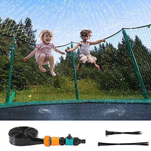 Fostoy Trampolin Sprinkler für Kinder, 12m Summer Outdoor Sprinkler Wasserpark Spielzeug, Trampolin...