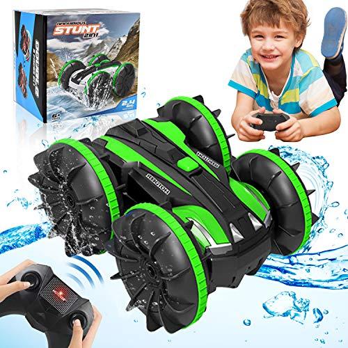 HOMOFY RC Cars Toy für 6-12 Jahre alte Jungen Amphibious 4WD Remote Control Auto Boot für Kinder...