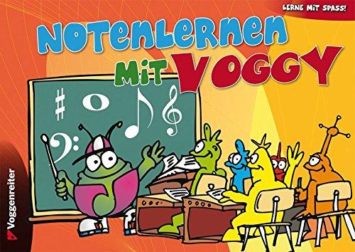 Notenlernen mit Voggy: Große Notensysteme für die Kleinsten zur musikalischen Früherziehung