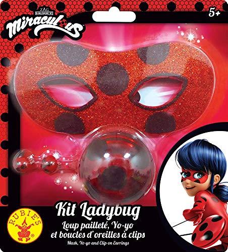 Rubie's – Offizielles Ladybug Miraculous – Set mit glitzerndem Wolf + Yoyo + Ohrringe – I-300295