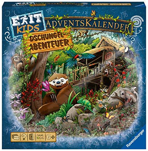 Ravensburger 18957 - EXIT Adventskalender kids - Dschungel-Abenteuer - 24 Rätsel für EXIT-Begeisterte...