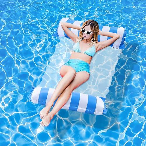 YLSCI Wasserhängematte, Luftmatratze Pool, Pool Wasserhängematte, Aufblasbares Schwimmbett,...