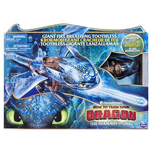 Dragons 6045436 - Movie Line - Fire Breathing Toothless (Ohnezahn) - Actionfigur mit Drachenatem,...
