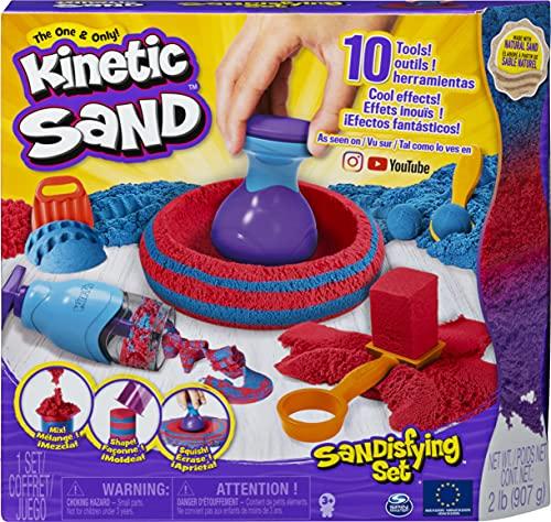 Kinetic Sand Sandisfying Set mit 10 Werkzeugen für kreatives Indoor-Sandspiel