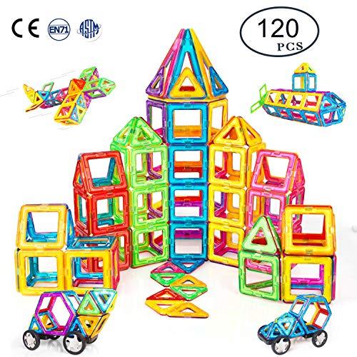 Condis Magnetische Bausteine 120 Teile Magnetspielzeug Magnete Kinder Magnetbausteine Magnet Spielzeug...