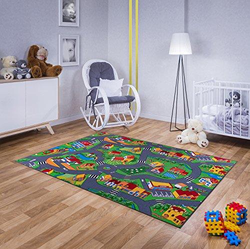 Echter Hit! Billiger Moderner Kinderteppich Straßenteppich (120cmx180cm)