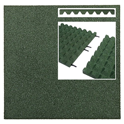 Qualitäts Fallschutzmatte 500x500x25mm in Rot aus Gummi-Recyclinggranulat