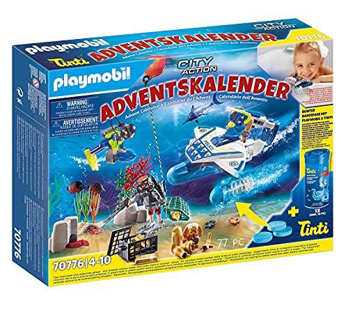 PLAYMOBIL Adventskalender 70776 Badespaß Polizeitaucheinsatz inklusive Unterwasserscooter mit Motor und...