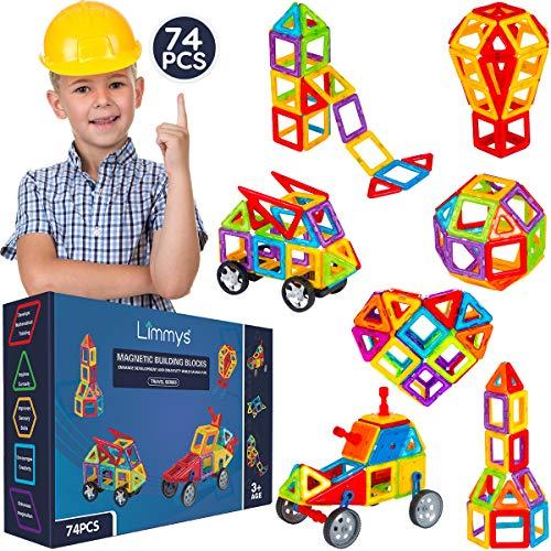 Limmys Magnetische Bausteine – Magnetspielzeug ab 3 Jahre für Jungen und Mädchen – Pädagogisches...